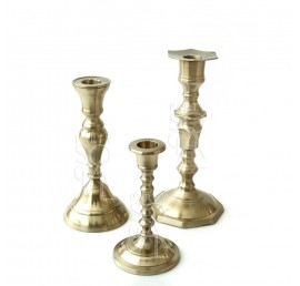 Brass Candlesticks Set of 3